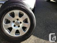 Audi A4 Rims and Yokohama tires.  Tires have 55% tread