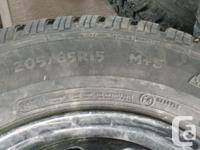 I HAVE A SET OF STUDDED SNOW TIRES 205/65R15 SIZE. I