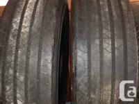 205/ 75 R14 heavy duty trailer tires 90 % tred  call