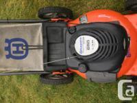 "Husqvarna 21"" rear bagger lawn mower. 6.5 hp. 4 stroke"