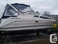 The Bayliner 2855 Ciera features the fluid lines of