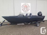2016 Crestliner 1650 Discovery SC Powered by a Mercury