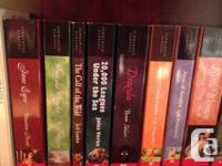 Books include:  Jane Eyre  Pride and Prejudice  The