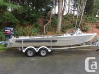 21 Foot Welded Aluminum Boat with Yamaha 150 Pro V with
