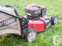 6.25 HP (190cc) Briggs and Stratton Gas mower with rear