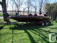 2003 Nitro 929 CDX 21' bass boat, 225 Merc Optimax, and