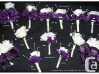 Brand new 21 piece wedding flower set comes with 9