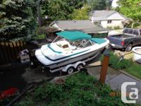 1998 21' bowrider on tandem trailer for sale. It has