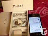 BRANDNEW 100 % 100. Black Iphone 4 16G. 1:- running iOS
