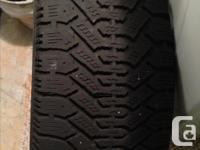 A set of 4 winter tires for sale in good condition.