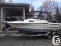 Upgraded to larger boat no longer need this one. 21ft,