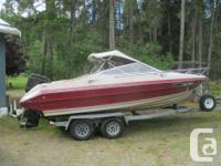 21ft Maxum cuddy with 120hp Force outboard . galvanized