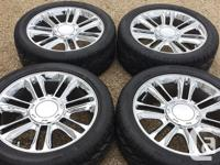 "GM GMC CHEVROLET 22"" Chrome OEM Wheels Rims Tires and"
