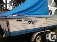 22' Cal Glass for sale Comes with trailer, kicker and a