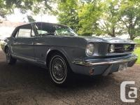 A-code Mustang GT. 289 V8. Colour: Y - Silver Blue