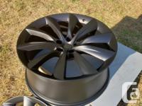 """I have a set of 22"""" Tesla Model X wheels for sale."""