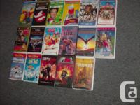 22 vhs movies ,all for 20.00(check out my other ads)