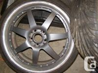 Set of 4 nearly new  225/35/19 tires mounted on  19x9
