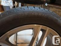 Four Michelin Winter Tires 225 50R 17 on alloy wheels
