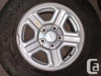 In this set you have 6X 225/75R16 Brand new tires come