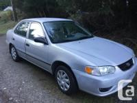 Make Toyota Model Corolla Year 2002 Colour Silver kms