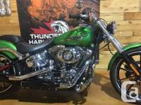Low KM's on this LIKE NEW 2015 Softail Breakout with