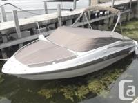 Crownline?s 200 LS bowrider has a large 8? 6? beam for