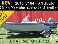 new 2015 G3 Angler V164F boat with 70 HORSEPOWER
