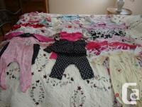 18 One Piece Pajamas, ranging from 9 months to 24