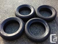 Set of 4 great condition snow tires 235/60R18 Yokohama
