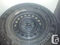235/70/16 4 WINTER TIRES ON STEEL RIMS GENERAL ALTIMAX