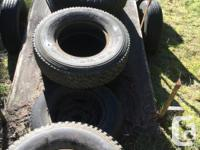 "Set of 4 - 235/85 16"" M/S Goodride tires. Off a 92"