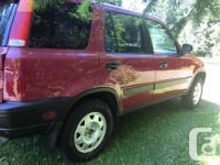 Make Honda Model CR-V Year 1997 Colour Red kms 267000