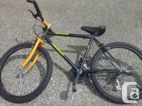"""24"""" wheeled 18 speed kids bike. i just got this bike on"""