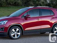 Description: This 2015 Chevy Trax just arrived and has