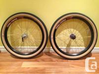 "AVAILABLE.  24"" DoubleTrack Wheelset. Back wheel laced"