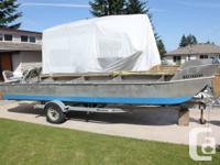 24' Light weight aluminum Skiff & Trailer $ 8,000.00 ($