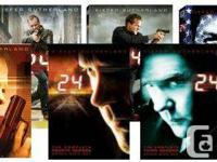 24 - Seasons 1-7 + Redemption DVDs (NOT Blue Ray) NEW