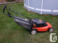 Will be moving soon, dont need the lawnmower. Twin
