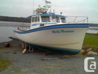 Built in 2003, North Shore Boat Ltd, Araisaig, NS. Hull
