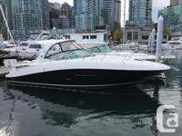 This beautiful black hull 1 owner 350 Sundancer has all