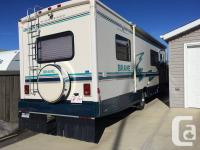 This RV is on 454 chev P30 chassis with front and rear