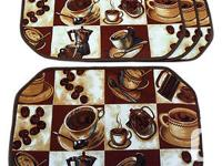 New Set four PC Coffee Placemats ESPRESSO LATTE Decor