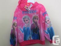 $25 Frozen Elsa/Anna Zipper Hoodies - Brand new with