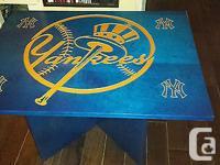 Table logo des Yankees de New-York gravé 1/16'' plaqué