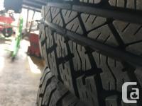 5 Bridgestone Dueler off a 2016 Jeep JK 255/70r18 used