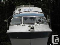 26 ft power cruiser ideal floating cabin sleeps 6