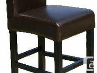 """R-054 26"""" Leather Counter Stool in Black   Available in"""