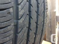 4 fairly new tires on alloy rims (dodge caravan 2004),