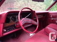 Make Ford Model LTD Year 1979 Colour Red kms 77000